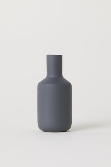 Small glass vase - Dark grey - Home All | H&M CN