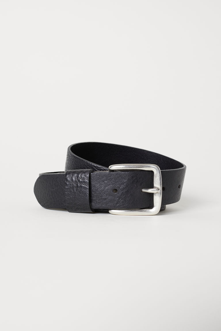 Leather belt - Black - Men | H&M
