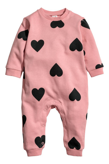 All-in-one suit - Pink/Hearts - Kids | H&M