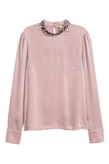Sequined blouse - Powder pink - Ladies | H&M IE