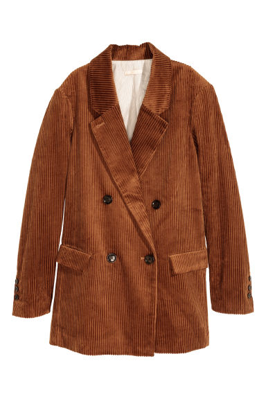 Cotton corduroy jacket - Brown - Ladies | H&M CN