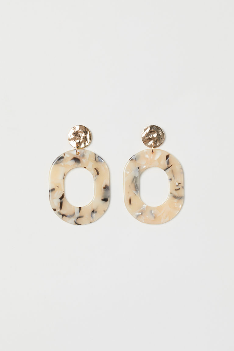 Earrings - Gold-coloured/Beige pattern - Ladies | H&M GB