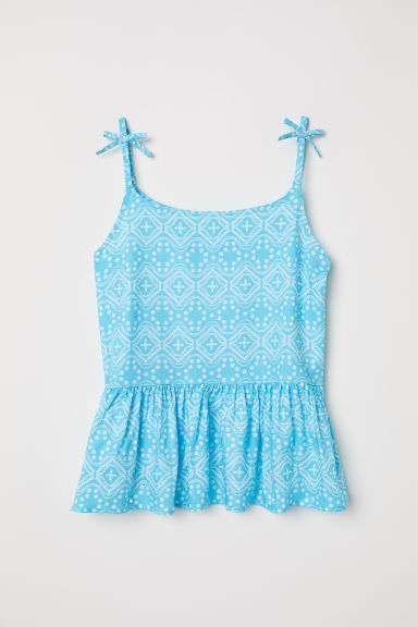 Patterned top - Turquoise/Patterned -  | H&M CN