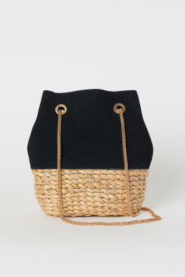 91df225b9d Bucket Bag with Suede Details