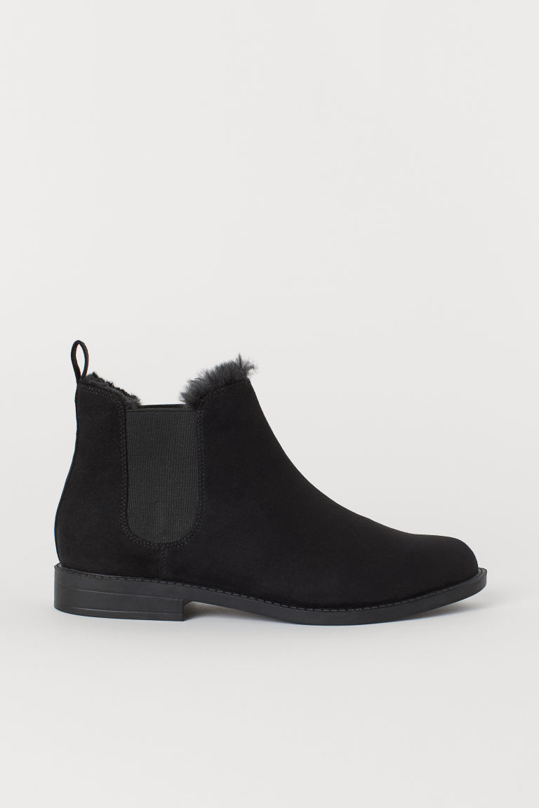 Pile-lined Chelsea boots - Black - Ladies | H&M