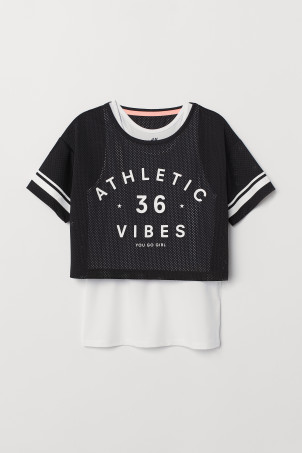 Double-layered sports top