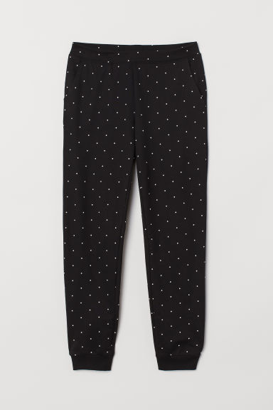 Sweatpants - Black/Spotted -  | H&M