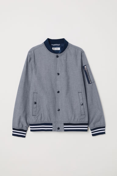 Chambray baseball jacket - Light blue - Kids | H&M