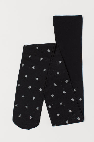 Thin tights - Black/Stars - Kids | H&M