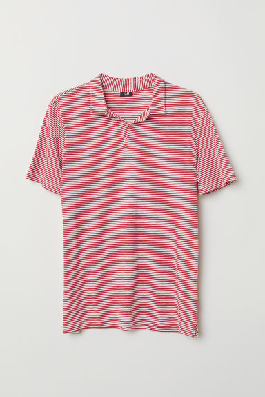 Poloshirt - Rood/wit gestreept - HEREN | H&M BE