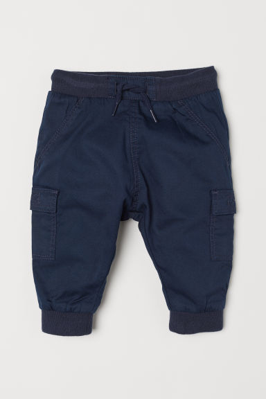 Lined pull-on trousers - Dark blue - Kids | H&M CN