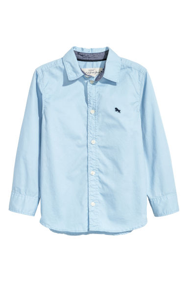 Cotton shirt - Light blue - Kids | H&M