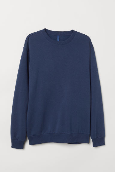 Relaxed-fit sweatshirt - Dark blue - Men | H&M CN