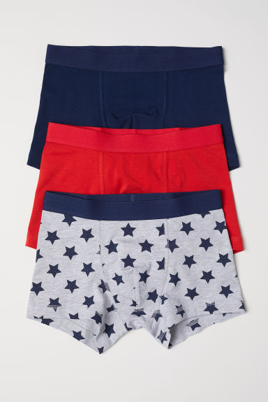 3-pack boxer shorts - Bright red/Stars -  | H&M