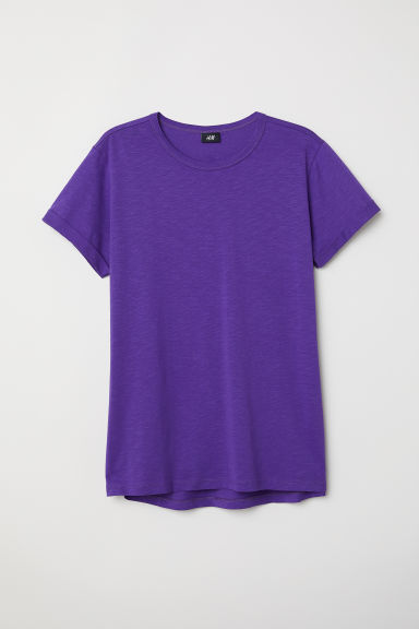 Slub jersey T-shirt - Purple - Men | H&M