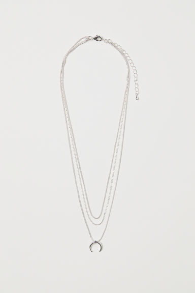 Three-strand necklace - Silver-coloured - Ladies | H&M GB