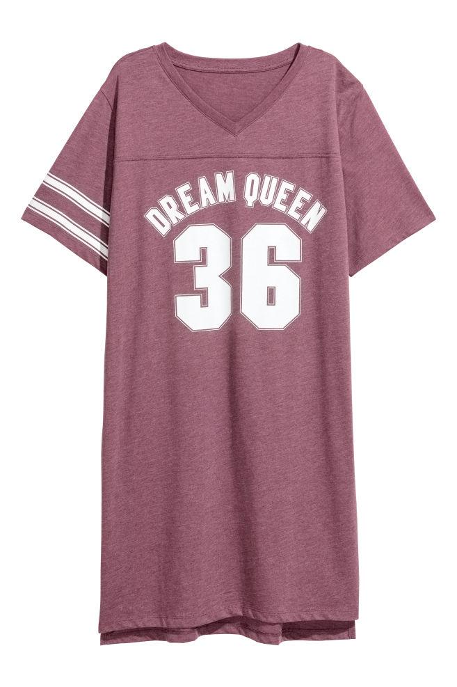 3552fe5aec0e Nočná košeľa s potlačou - burgundská - ŽENY