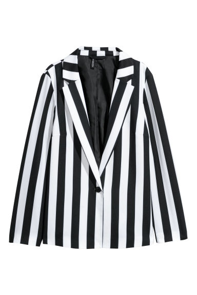 Patterned jacket - White/Black striped -  | H&M GB