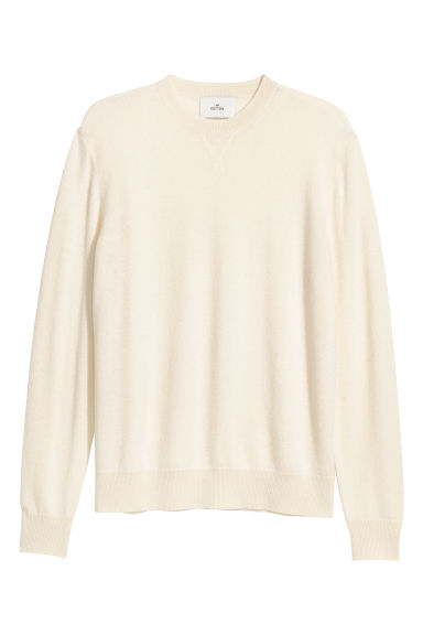 Cashmere jumper - Natural white - Men | H&M