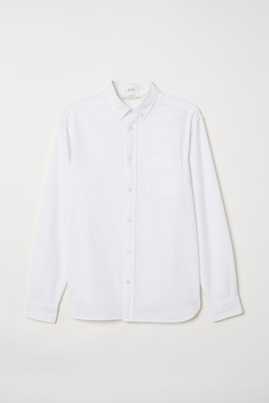 Oxford shirt Regular Fit - White - Men | H&M