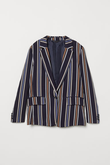 Gestreifter Blazer - Blau - Ladies | H&M AT