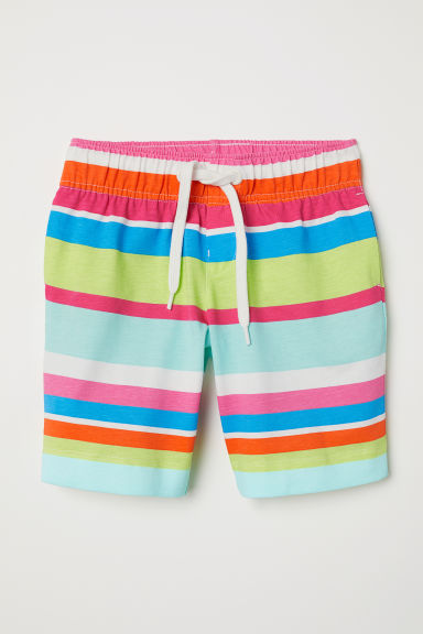 Patterned shorts - White/Striped -  | H&M CN