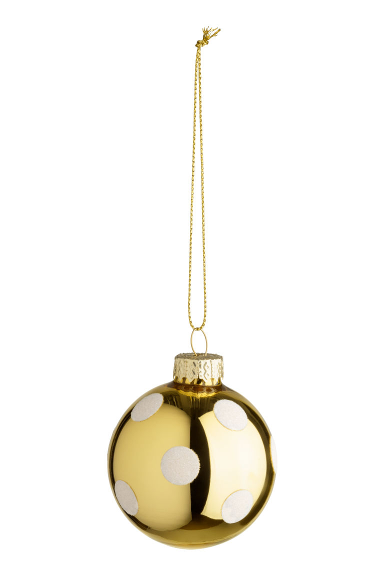 2-pack Christmas Ornaments - Gold-colored/white - Home All | H&M US