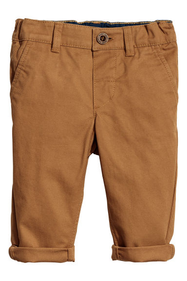Cotton chinos - Dark beige - Kids | H&M