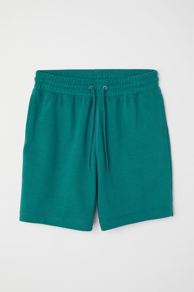 Short van joggingstof - Groen - HEREN | H&M BE