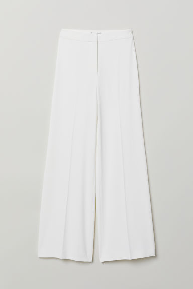 Wide trousers - White - Ladies | H&M