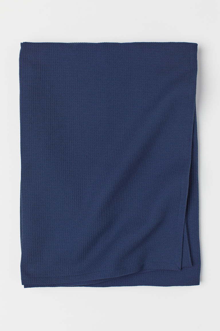 Waffled Bedspread - Dark blue - Home All | H&M US