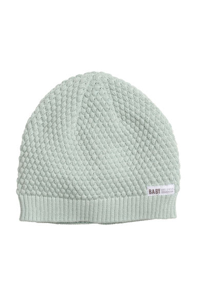 Fine-knit hat - Light turquoise -  | H&M CN