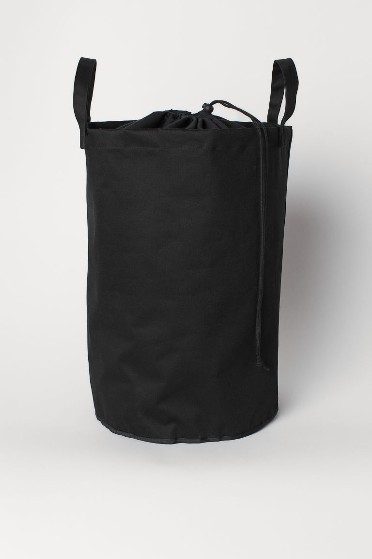 Cotton twill laundry bag - Black - Home All | H&M CN