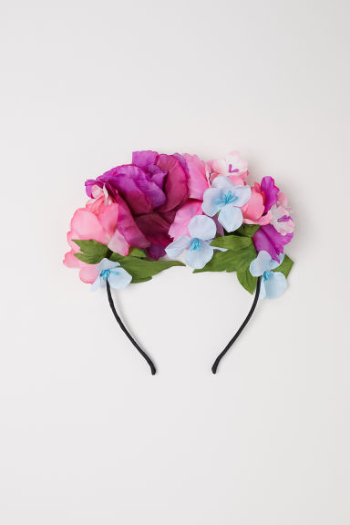 Alice band with flowers - Purple -  | H&M CN
