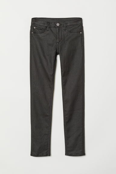 Skinny Fit Coated Jeans - Zwart denim - KINDEREN | H&M BE