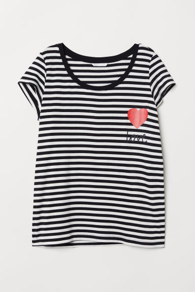 MAMA Nursing top - Black/White striped - Ladies | H&M