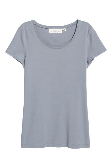 T-shirt - Light grey-blue - Ladies | H&M