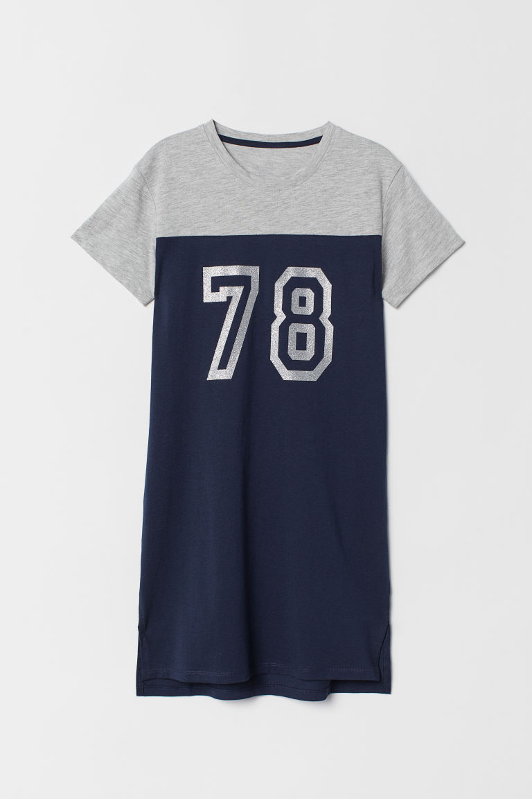 Nightshirt - Dark blue/78 - Kids | H&M CN