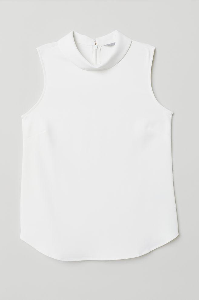 469bee68fe01 Ärmellose Bluse - Weiß - Ladies   H M ...