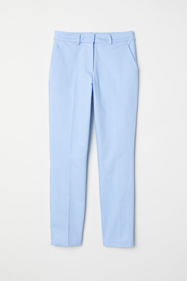 Cigarette trousers - Light blue - Ladies | H&M CN