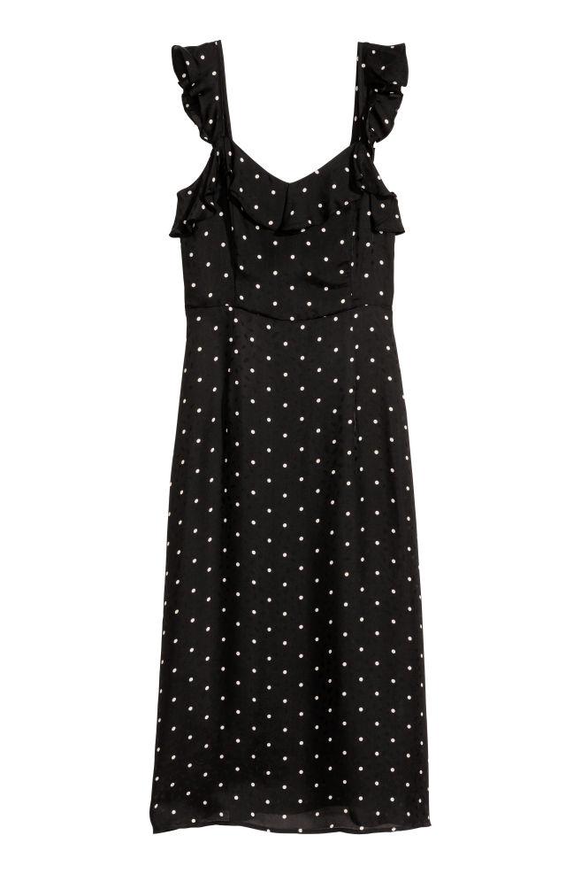 cdae18da7c Fodros ruha - Fekete/pöttyös - NŐI | H&M ...