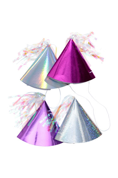4-pack paper hats - Purple/Silver-coloured -  | H&M