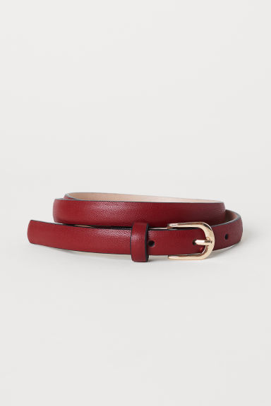 Narrow belt - Dark red - Ladies | H&M CN