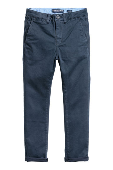 Slim Fit Chinos - Blu scuro -  | H&M IT