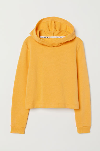 Short hooded top - Yellow - Kids | H&M