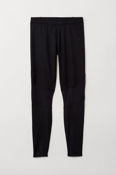Winter running tights - Black - Men | H&M