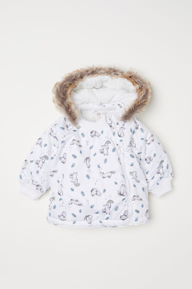 Padded outdoor jacket - White/Foxes - Kids | H&M
