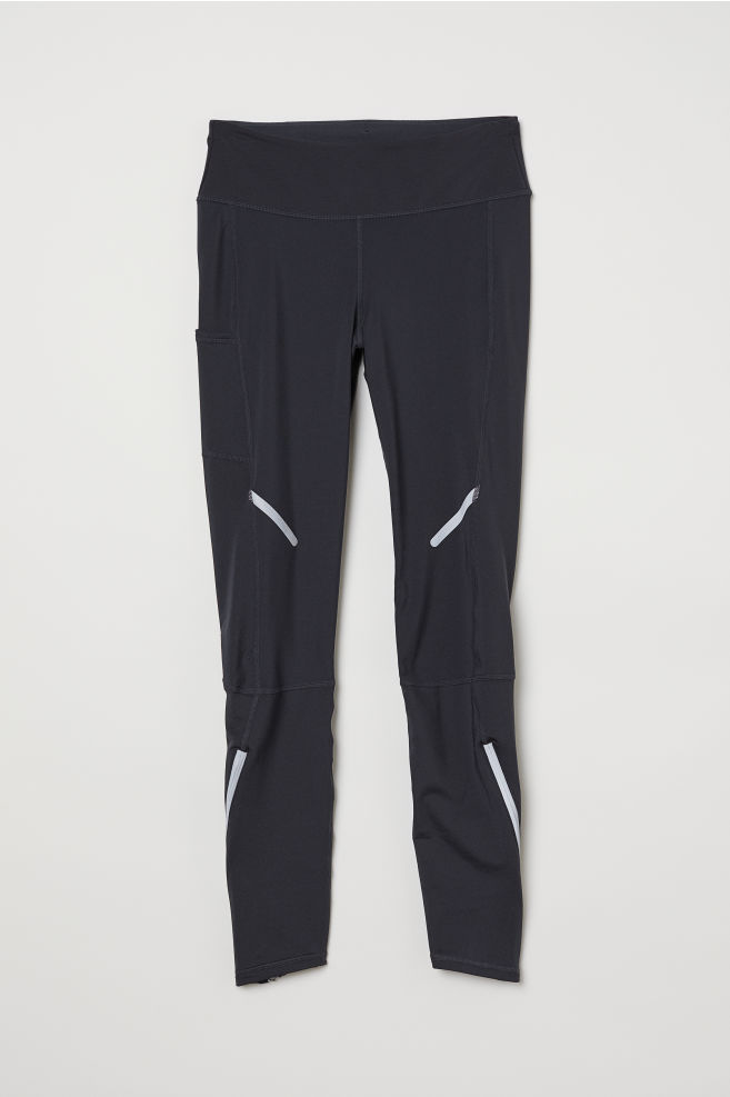 51a0c1ba101d Winter running tights - Dark grey - Ladies