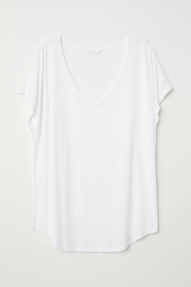 V-neck top - White - Ladies | H&M