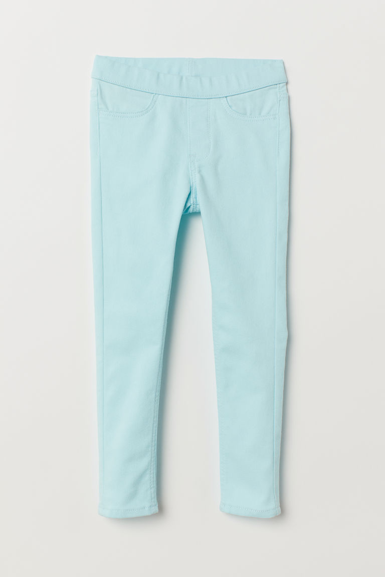 Twill treggings - Mint green - Kids | H&M
